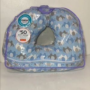 Boppy pillow and blue elephant cover